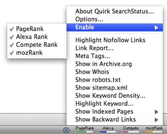SearchStatus Firefox SEO add-on