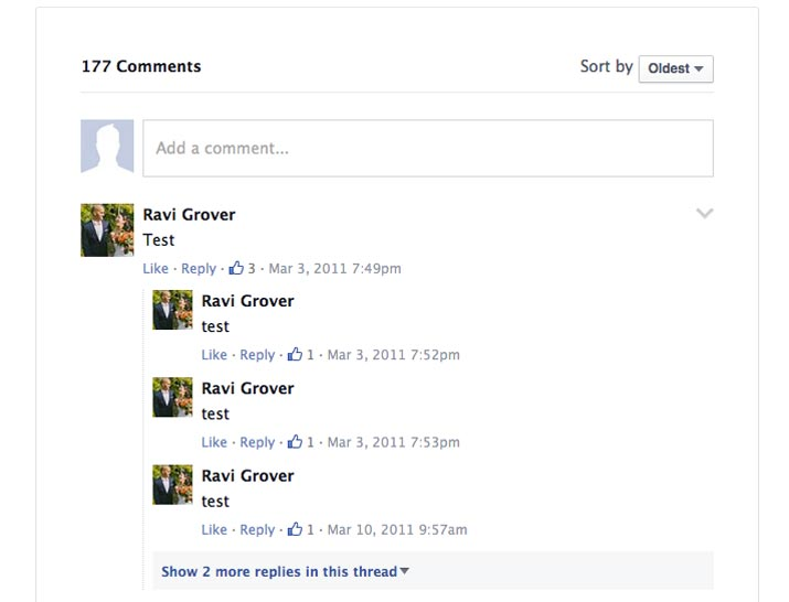 Facebook Comments example on WordPress site