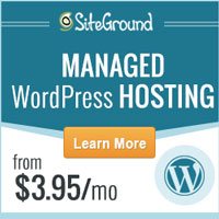 WordPress hosting by Siteground